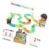 Glow in The Dark Track, Race Car Track Toy for Kids as A