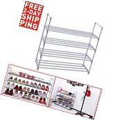 Shoe Rack Organizer Storage Space Shelf Closet Saving 4 Tier