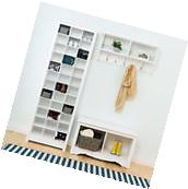 Shoe Rack Organizer Wood Storage Cabinet 36 Pair Tower Space
