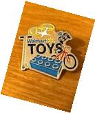 Rare Walmart Lapel Pin Toy Toys Department Bikes Wal-mart