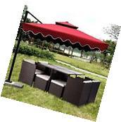 9PCS Rattan Patio Furniture Set Garden Dining Set Outdoor