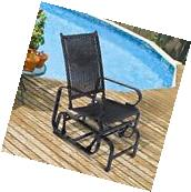 Outsunny Rattan Patio Glider Rocking Chair Swing Seat Wicker