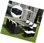 11pc Rattan Sofa Set Outdoor Patio Wicker Dining Furniture