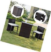 Outsunny Rattan Wicker Furniture Set 3PC Cushioned Outdoor