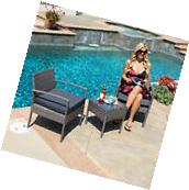 Rattan Wicker Sofa Set Sectional Couch Cushioned Furniture
