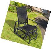 Rattan Wicker Patio Glider Rocking Chair Swing Outdoor Porch