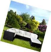New 6PC Outdoor Ratten Furniture Set Patio Garden Sectional