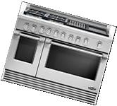 """DCS Professional Style RDV484GGN 48"""" Stainless Slide-In Dual"""