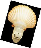 Real Seashell Night Light Mexican Deep Scallop  Shell