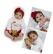 """22"""" Realistic Newborn Girl Doll Lifelike Soft Vinyl Silicone"""