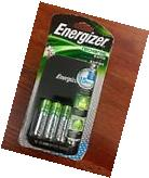 NEW Energizer Recharge Rapid Charger with 4 AA Batteries,