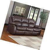 Recliner 3-Seater Sofa Brown Over Stuffed Bonded Leather
