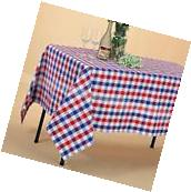 """VEEYOO 60x84"""" Rectangle Cotton Tablecloth Plaid Table Cover"""