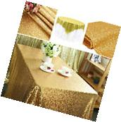 Rectangular Sequin Table Cloth Wedding Birthday Party Dining
