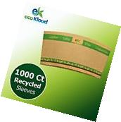 eco Kloud Recycled Paper Sleeves for 12 & 16 oz Hot Cups -