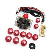 Red Arcade DIY Replacement Part Set Kits USB Encoder+PC