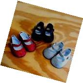 Shoe Lot RED BLACK SILVER GLITTER Shoes for 18 Inch American