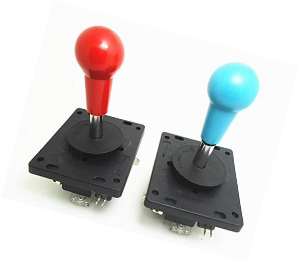 2 pcs/lot red or blue quality and durable 4way 8way joystick