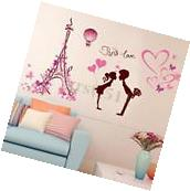 Removable Paris Eiffel Tower Love Wall Sticker Art Vinyl Home Decal Mural Decor