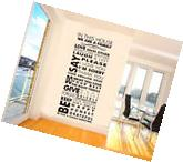 Removable Vinyl Decal Art House Family Home Living Room
