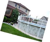 "Resin Aboveground Swimming Pool 24"" Tall Safety Fence - Kit"
