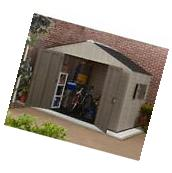 Resin Storage Shed 10' x 8' Plastic Utility Sheds Backyard