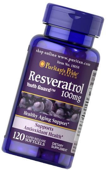 2 Pack of Resveratrol 100 mg  Resveratrol 100 mg-120