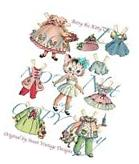 Retro Kitty Paper Doll Paperdoll 7 Outfits Vintage Dresses