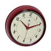 Infinity Instruments Retro Vintage Round Metal Wall Clock,