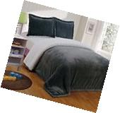 Chezmoi Collection Reversible Micro-mink Sherpa Throw