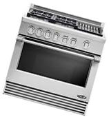 """DCS RGV364GLL 36"""" Stainless Pro-Style Slide-In LP Gas"""