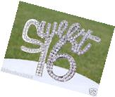 Rhinestone Sweet Sixteen 16 Number 16th Birthday Cake Topper