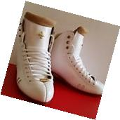 New Riddell Ice figure skate Boots Model 2010 White  Size 5