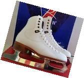 New Riddell Ice figure skate Model 300 White  Size 5