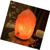 HemingWeigh 13-19lb Rock Salt Lamp on Wood Base, Electric
