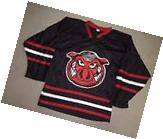 Adult SMALL Rockford Icehogs BLACK AHL Throwback Minor