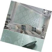 10M Roll Green 3D Non-woven Wallpaper Classic Vintage Damask