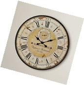 Large Roman Numeral Wall Clock French Style Vintage Shabby