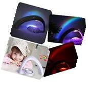 Romantic LED Rainbow Projector Colourful Night Light Lamp