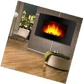 Wall Mountable Electric Fireplace Heater 3D Flame LED