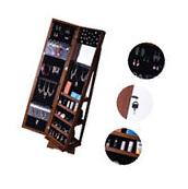 Rotatable Mirror Jewelry Cabinet Armoire Jewelry Storage