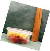 50 Lot New 8 oz Round Clear Deli Food/Soup Storage