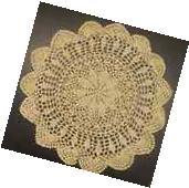 """6 PCS 12"""" Round   Crochet Lace Doily COLOR BEIGE 100 %"""
