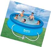 Round Bestway 10 x 30 Inflatable Fast Set Pool Kit Filter