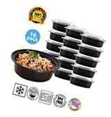 Round Plastic Reusable Microwavable Meal Prep Food Saver