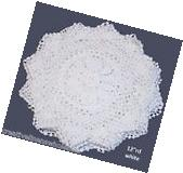 "6PCS 12"" Round White Crochet Lace Doily FREE S&H"