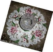 "Royal Rose Lace  Doily Flower Floral  11"" Round Roses"