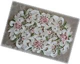 Royal Rose Lace Placemat  Doily Flower Floral