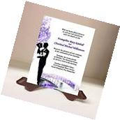 Wedding Invitations RSVP Cards Bride Groom Bridge Violet
