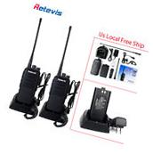 2xRetevis RT1 Walkie Talkies UHF 10W 3000mAh Scrambler VOX